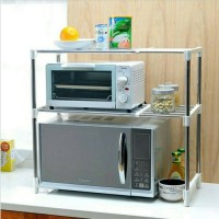Microwave Oven Stainless Steel- rak penyimpanan