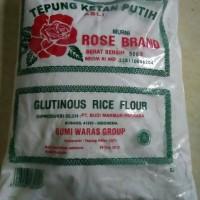 Tepung Ketan Putih+Rose Brand 500gr+Glutinous Rice Flour Bermutu