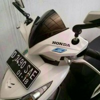 Variasi Visor Motor Matic Honda BEAT PGM F1 TGP Warna Hitam