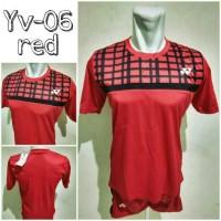 harga Baju Kaos Setelan Badminton Yonex Yv-06 Red Import Tokopedia.com