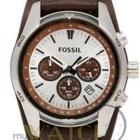 Jam Tangan Pria Fossil Coachman CH2565 Chronograph Leather Strap