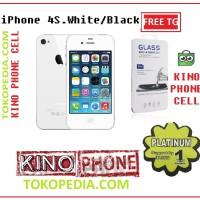 {FreeTemperd G} iPhone 4s 32gb white garansi 1 tahun