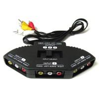 Adapter TV Switch RCA 3 Input 1 Output Composite AV Pemindah Saluran
