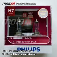 Philips Xtreme Vision PLUS H7 55W lebih terang 130%