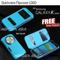 Samsung Galaxy K Zoom Quickview Flipcover Flip Book Cover Casing Case