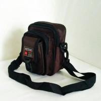Tas selempang cowo tas kecil gadget santai sling waist bag casual man