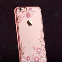Jual Casing Iphone 6 6S/ 6 PLUS + Flower Bling Diamond Silicon Soft Case Murah