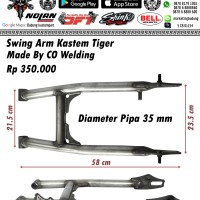 Swing arm custom honda tiger