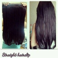 Jual Hair Clip Big Layer Lurus Natural / hairclip revo Murah