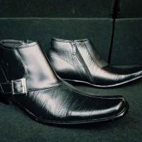 harga Sepatu Bally Pantofel High Black Sleting Kulit Asli Full Up Leather Tokopedia.com