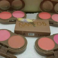 NAKED TWO COLORS BLUSH ON/ NAKED 5 ISI 2 WARNA