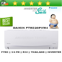 AC SPLIT DAIKIN 3/4 PK 3/4PK R32 THAILAND INVERTER - FTKC20PVM4