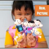 Jual VIDEO INSIDE !!! Boneka Jari Keluarga | Family Finger Puppet Set Murah