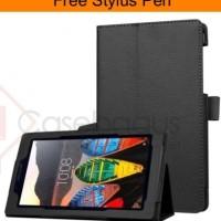 harga Premium Leather Flip Case Cover - Lenovo Tab 3 7' Essential 710i Tokopedia.com