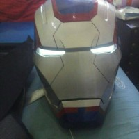 Helm Iron Patriot Iron Man 3 | Iron Patriot Helmet Open Face Wearable
