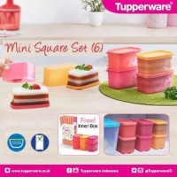 Jual PROMO! Tupperware Mini Square Set Wadah Kecil Imut HOT Murah