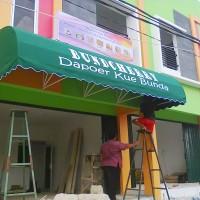 pusat pembikinan kanopi ataupun auwning atap bahan kain import