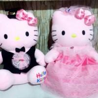 Jual Boneka hello kitty wedding couple Murah
