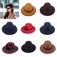 Jual topi fedora lebar polos warna warni kualitas eksport Murah