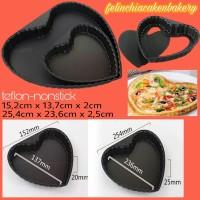 harga Loyang Cetakan Kue Pan Teflon Pizza Pie Love Hati Heart 15cm Tokopedia.com