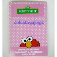Birthday Activity Book Tema Elmo Pink