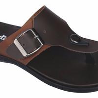 Sendal anak 084CTU, sandal casual/jepit anak laki-laki, model kulit (W