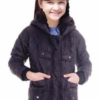 jaket anak perempuan 804SKR, jaket gunung/baju hangat hoodie parasut (