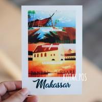 MAKASSAR SULAWESI CITY VIEW INDONESIA KARTU POS POSTCARD SURAT MURAH