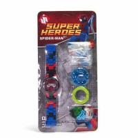 jam tangan anak mainan lego super heroes spider man kualitas premium
