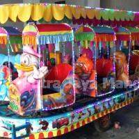 Odong-odong / kereta mini mainan fiber plat karakter kartun