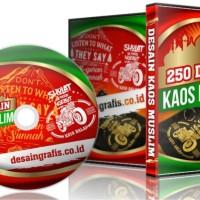Koleksi 250 Template Desain Kaos Muslim Format CorelDraw (1 DVD)