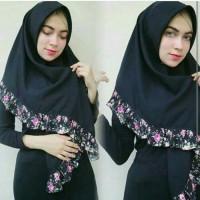 Hijab/Jilbab/Kerudung segi empat rempel bunga sakura murmer