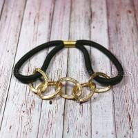 kunciran / kuncir rambut rantai emas chain HR-05