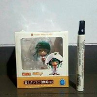 mainan action figure Hatsune miku santa ver. baju putih topi putih