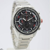 Jam tangan pria Citizen CA0120-51E original silver red