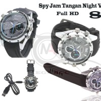 Spy Cam Camera Jam Tangan Night Vision FULL HD 8GB ( infrared )