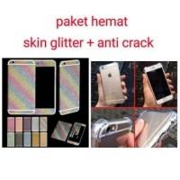 Iphone 5 5S Paket Hemat Anti Crack Case Skin Sticker Glitter