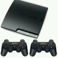 Ps3 Slim Asli Sony + Hdd 320gb + 2 Stick Warlles