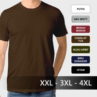 Jual Jumbo Size - Kaos Polos Dewasa Kaos Oblong Katun Big Size Jumbo Murah