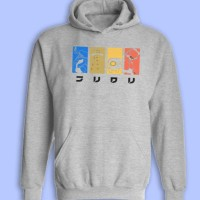 FLCL Fooly Cooly Minimalist Anime Inspired Pullover Hoodie