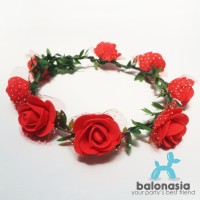 Balonasia Flower Crown / Aksesoris Pesta Mahkota Bunga