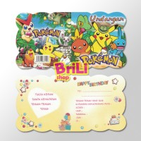 Kartu Undangan Ulang Tahun Pokemon| Pesta Ultah Invitation