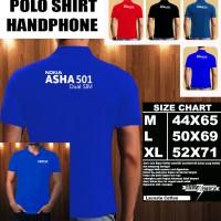 Polo Shirt Gadget/Hp NOKIA ASHA 501 Dual Sim FONT/Kaos Kerah/Baju