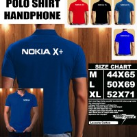 Polo Shirt Gadget/Hp NOKIA X+ FONT/Kaos Kerah/Baju Kerah/Tshirt