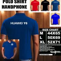 Polo Shirt Gadget/Hp Huawei Y6 Logo FONT/Kaos Kerah/Baju Kerah/Tshirt