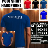 Polo Shirt Gadget/Hp NOKIA 220 Dual SIM FONT/Kaos Kerah/Baju Kerah