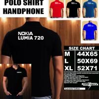 Polo Shirt Gadget/Hp NOKIA LUMIA 720 FONT/Kaos Kerah/Baju Kerah/Tshirt