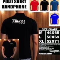 Polo Shirt Gadget/Hp NOKIA ASHA 309 Dual Sim FONT/Kaos Kerah/Baju