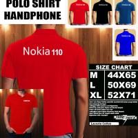 Polo Shirt Gadget/Hp NOKIA 110 FONT/Kaos Kerah/Baju Kerah/Tshirt/Kaos