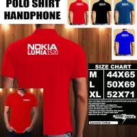 Polo Shirt Gadget/Hp NOKIA LUMIA 1520 FONT/Kaos Kerah/Baju Kerah